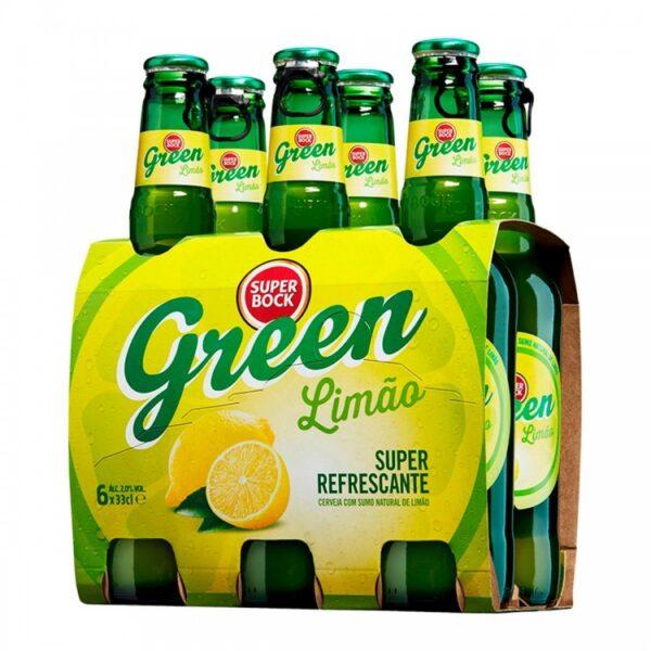 beer super bock green six pack 33cl x 6